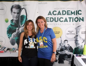 Academia Sánchez-Casal, international tennis training program and academy. Pictured left to right: Susana Zaragoza and Simona Sanchez.